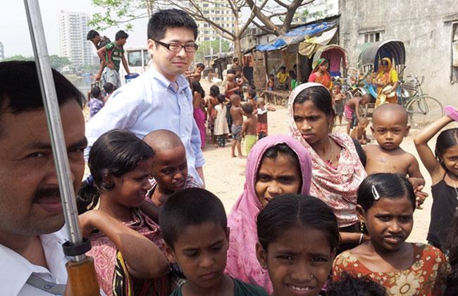 バングラデシュ・ダッカのスラム街
